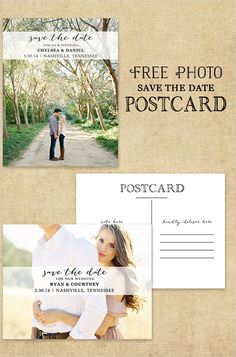 free photo save the date card http://www.weddingchicks.com/2013/09/24/photo-postcard-save-the-date/