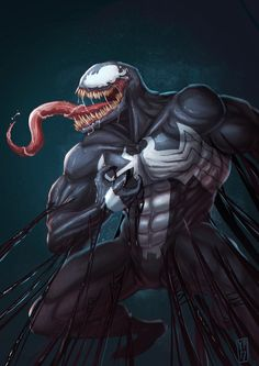 Venom, Desar Yuartha on ArtStation at https://www.artstation.com/artwork/1aEve