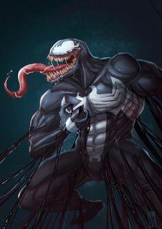 Venom, Desar Yuartha on ArtStation at https://www.artstation.com/artwork/1aEve