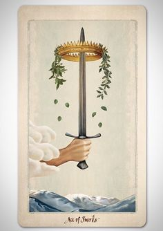 Pagan Otherworlds tarot cards by UUSI. The Ace of Swords.