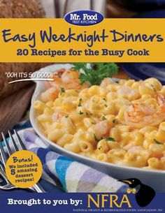 "Having trouble finding quick, easy and delicious meals to cook your family during the busy week? Sign up for our FREE @Mr. Food Test Kitchen ""Easy Weeknight Dinners: 20 Recipes for a Busy Cook"" eCookbook!!!"