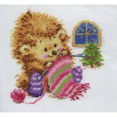 Stickpackung I won\'t tell for whom I knit! Igel beim...