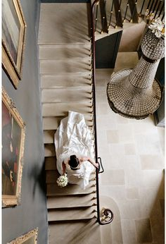 I would love a picture like this of the bride going down the stairs! Wedding Stuff, Wedding Photos, Photo Ideas, Stairs, Weddings, Bride, Pictures, Photography, Marriage Pictures