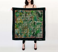 """Big+Square+Scarf+(36""""+x+36"""")+""""Amongst+the+Leaves""""+by+BCcreativity"""