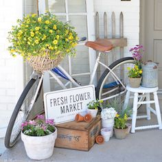 Spring is in the air so brighten up your front porch for the spring season. From colorful planers to spring wreaths, there is plenty of inspiration here for spring porch ideas. DIY Monogrammed Planter from Remodelaholic Flowers in a Lantern from Little Brags Farmhouse Style Spring Porch from Little Vintage Nest Spring Front Porch from Cottage in …