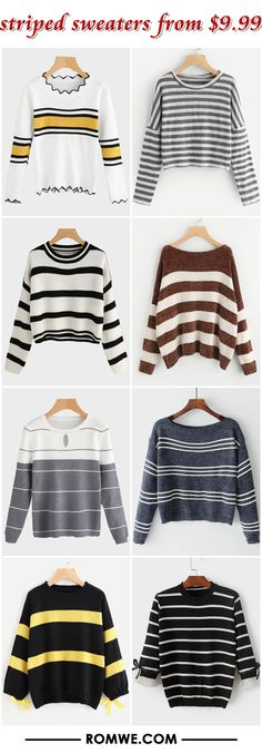 striped sweaters from $9.99