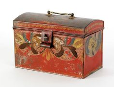 Decorative Document Boxes Folk Painted Dome Top Document Box  My Original Folk Art
