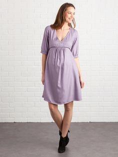 Robe grossesse et allaitement croisée imprimée - Bleu imprimé+Violet imprimé  - 4 def3dd7e96f5