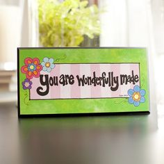 Image detail for -Wonderfully Made - Wooden Plaque | DaySpring