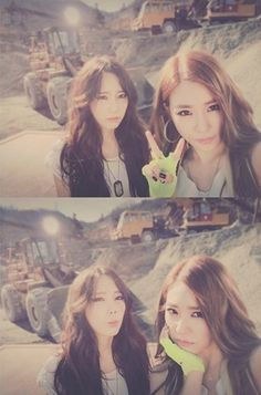 Tiffany and Taeyeon!!!!! its a selca frm catch me if u can!!!!!!