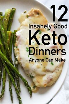 Dinners for Keto Diet, low carb and very tasty! Looking for low carb dinner recipes that are keto diet approved? These low carb dinner recipes are as easy as they are delicious! Low Carb Dinner Recipes, Healthy Recipes, Ketogenic Recipes, Keto Dinner, Diet Recipes, Cooking Recipes, Low Carb Easy Dinners, Keto Meals Easy, Recipies
