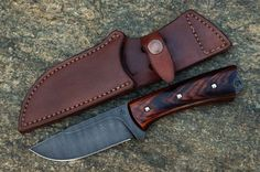 Click this image to show the full-size version. Handmade Chef Knife, Handmade Knives, Leather Jewelry, Leather Craft, Leather Knife Sheath Pattern, Knife Holster, Knife Template, Skinning Knife, Case Knives