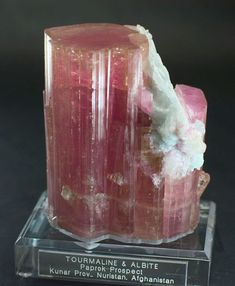 Pink Tourmaline and Albite,  from Kunar Province, Nuristan, Afganistan: Dimensions 4.5 x 3.5 x 2.5 inches. (Photo: Jason Stephenson)