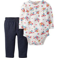 Child of Mine by Carter's Newborn Baby Girl Bodysuit And Pantset Set 2 Pieces