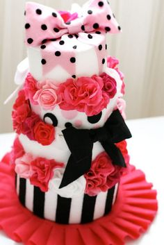 barbie felt cake by Yuk0, via Flickr