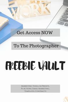 The Freebie Vault is a collection of FREE tools and resources for beginner photographers. Lightroom presets, Photoshop actions, marketing templates, fonts, and contracts.