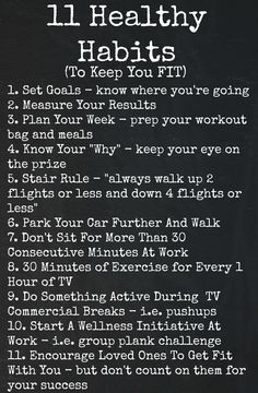 Healthy Habits To Improve Fitness