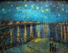 """antiqueart: """" Vincent van Gogh - Starry Night over the Rhone (1888) """""""