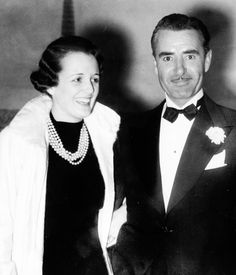Mary Astor and John Gilbert at a Hollywood Party in the 1930s