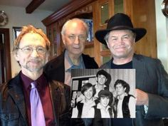 Peter, Mike, Micky at Davy's private memorial in LA  forever Davy