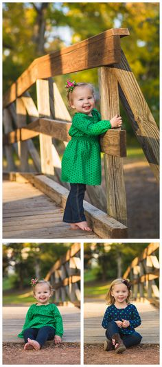 family portrait ideas, family picture poses, pose, family session, beautiful, pretty, professional, fall, baby sister, woods, sibling, sisters, bridge, girl family, family picture ideas for clothes, outfits, blue and green theme, photography