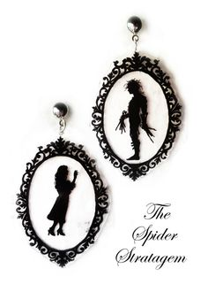 Gothic victorian stud earrings Edward by SpiderStratagem on Etsy, €14.00
