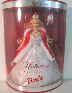2001 BARBIE HOLIDAY CELEBRATION SPECIAL EDITIONS MATTEL 50304
