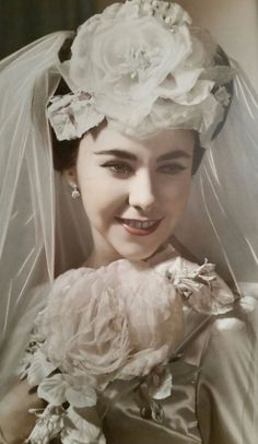 All brides think of having the perfect wedding ceremony, but for this they need the perfect bridal dress, with the bridesmaid's outfits complimenting the brides-to-be dress. Here are a few suggestions on wedding dresses. Save Money Wedding Tips. 1940s Wedding, Vintage Wedding Photos, Vintage Bridal, Wedding Pics, Wedding Bride, Wedding Styles, Wedding Day, Wedding Dresses, Vintage Weddings