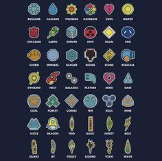 Badges + names