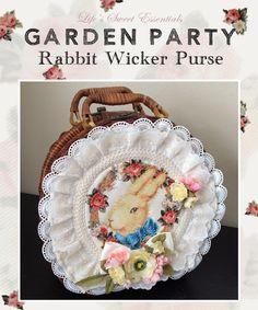 Remake: Rabbits in the Garden Wicker Purse