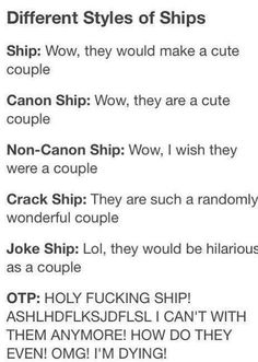 Different Styles of ships