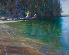 "Brent Lynch - Island Beach, Bamfield (field study) - 16"" x 20"" - oil on canvas"