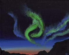 Northern Lights - Free Arts Academy- Art From Our Channel Sky Painting, Acrylic Painting Canvas, Art Paintings For Sale, Flower Landscape, Art Academy, Pet Portraits, Northern Lights, Abstract Art, Channel