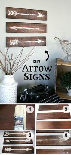 Check out how to make easy DIY farmhouse style Arrow Signs @istandarddesign