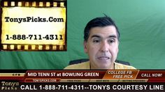 Middle Tennessee St vs. Bowling Green Falcons Pick Prediction College Fo...