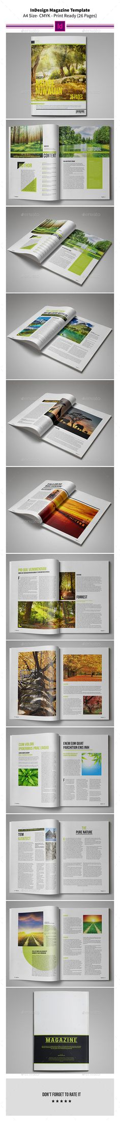 Nature MagazineTemplate 26 Pages - #Magazines Print #Templates Download here: https://graphicriver.net/item/nature-magazinetemplate-26-pages/9362533?ref=alena994