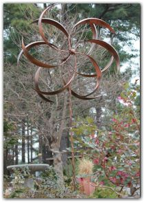 Kinetic Copper Wind Sculpture   Double Windmill Spinner | Wind Sculptures,  Windmill And EBay