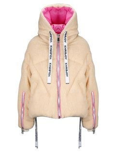 Khrisjoy Beige Polyester Down Jacket Ski Fashion, Winter Fashion, Fashion Outfits, Sporty Fashion, Trendy Outfits, Fashion Women, Cool Outfits, Pants For Women, Jackets For Women