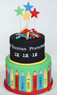 Sugar Creation: Preschool Graduation Cake // preschool and kindergarten graduation