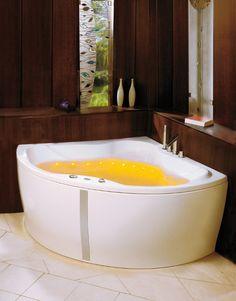 """Wellness Badewanne mit LED-Lichttherapie + Fernbedienung inkl. Chromoprogrammen, 125/160 cm, BANDOS (links). Erhältlich im Ebay-Shop """"Bluemabell"""""""