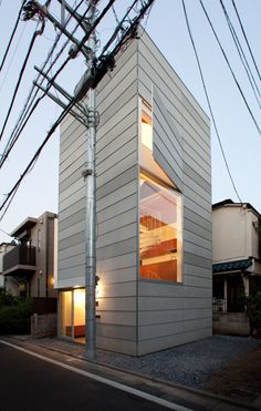 From a house with an entirely transparent facade to a home built around a train carriage, the latest contemporary home design and architecture in Japan. Residential Architecture, Contemporary Architecture, Interior Architecture, Installation Architecture, Creative Architecture, Building Architecture, Micro House, Tiny House, Compact House