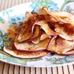 Apple Chips - a easy, healthy, low calorie snack for those days when you need a little something sweet.