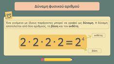 Μαθηματικά ΣΤ΄ δημοτικού  Ενότητα:Ενότητα 1  Κεφάλαιο:Δυνάμεις