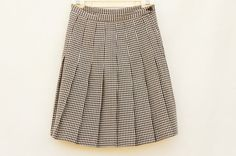 Vintage 80s-90s Factory Pleated Houndstooth by SycamoreVintage