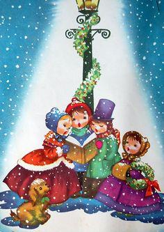 Vintage Retro Christmas Carols Music Book 1950s