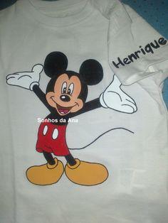 Handmade-t-shirt mickey www.facebook.com/sonhosdaana