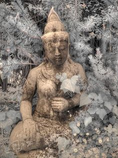 Buddha statue infrared photography Zen by FengShuiPhotography Spanish Home Decor, Infrared Photography, Serenity Now, Photo Tree, Color Of The Year, Fine Art Photography, Beautiful Gardens, Namaste, Buddha