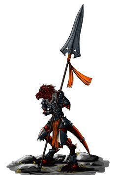 Kobold spearman by N647 on DeviantArt