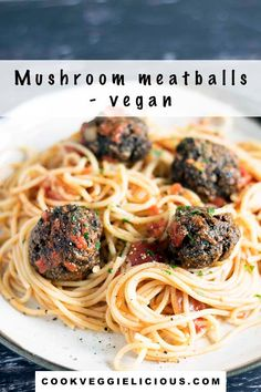 Completely meatfree, these mushroom meatballs are packed full of flavour. Perfect with pasta for a vegan or vegetarian dinner. #vegan #vegetarian #mushroommeatballs #veganmeatballs #vegetarianmeatballs #vegandinners