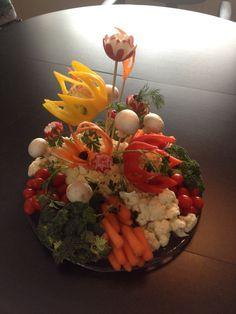 Vegetable bouquet - an edible centerpiece!